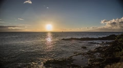 Sunset Time Lapse of Black Rock Maui Stock Footage