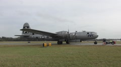 B-29 World War II bomber Stock Footage