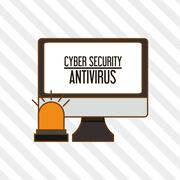 Cyber Security antivirus design - stock illustration