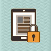 Cyber Security antivirus design Stock Illustration