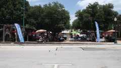 This is a video of the Grapevine Texas Main Street Farmer's Market. - stock footage