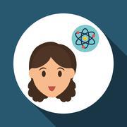 Education design. University icon. Colorfull and isolated illustration, people - stock illustration