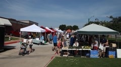 This is a video of the Flower Mound Texas Farmer's Market. - stock footage