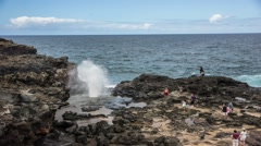 Maui blowhole Time Lapse Stock Footage
