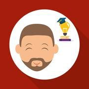 Education design. University icon. Colorfull and isolated illust - stock illustration