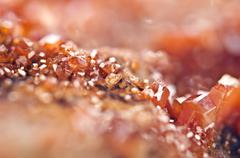 Crystals Vanadinite. Macro. Extreme closeup Stock Photos