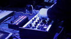Sound Specialist Tuning Midi Controller Tumblers Stock Footage