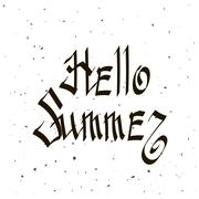 Phrase Hello Summer. - stock illustration