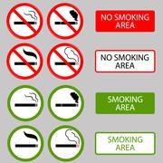 No Smoking, Cigarette, Smoke Prohibited Symbols Stock Illustration