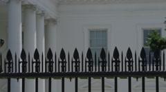 Establishing shot of Washington DC White House - President of the United States - stock footage