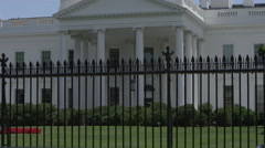 Establishing shot of Washington DC White House - President of the United States Stock Footage