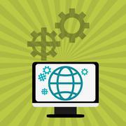 Digital Marketing design.Communication and ecommerce. Colorful i Stock Illustration