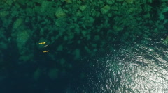 Kayaking in the sea Stock Footage