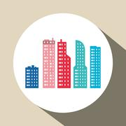 City design. Building icon. Isolated illustration - stock illustration