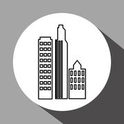 City design. Building icon. Isolated illustration Stock Illustration