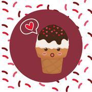 Sweet design. Dessert icon. Colorfull illustration, vector graph Stock Illustration