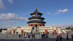Hall of Prayer for Good Harvests in Temple of Heaven. Beijing, China Stock Footage
