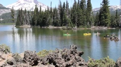 Lakes, streams and falls around Bend Oregon Stock Footage