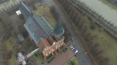 Konigsberg Cathedral, a Brick Gothic-style cathedral in Kaliningrad, Russia Stock Footage
