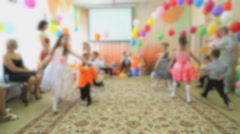 Kids dance at the nursery Stock Footage