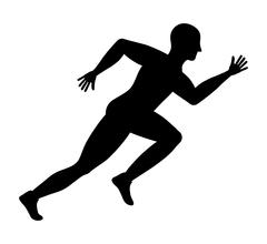 Man of side running. sport concept, vector graphic - stock illustration
