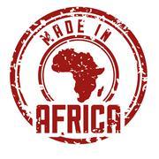 Africa design. map shape icon. grunge graphic,  vector Stock Illustration