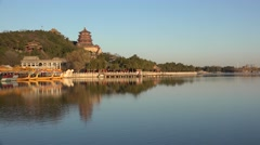 Panorama of the Longevity Hill area in Summer Palace. Beijing, China. Stock Footage