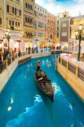 The Gondola in Venetian Macao Resort Casino - stock photo
