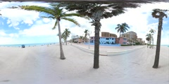 Hollywood Beach 360 VR video Stock Footage
