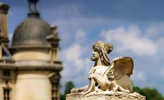 Chantilly castle view, Il-de-France, Paris region Stock Photos