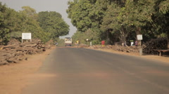 African Street Environment Stock Footage