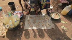 Cashew trading in Africa Stock Footage