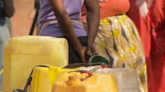 Black Women standing in an African Typical market Stock Footage