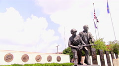 Kansas City, KS -  June 18 2016 VFW national headquarters Centennial Plaza 4k - stock footage