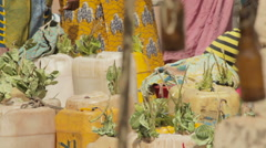 Yellow jerrycans Stock Footage