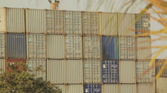 Pile of containers Stock Footage