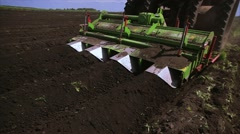 Agriculture tractor seeding plants Stock Footage