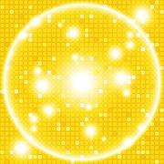 Bright gold background of a circular mosaic Stock Illustration