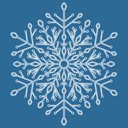 Pretty Vector Round Snowflake - stock illustration