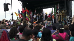 Opening Night Ceremony of Carasaugga's 31st Multicultural festival  Stock Footage