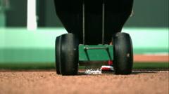Chalking Foul Line on Baseball Field in Slow Motion - stock footage