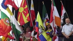 Parade of Nations at Carassauga Opening Stock Footage