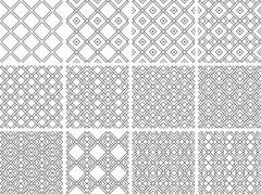 Seamless pattern with geometrical figures - stock illustration