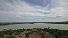 Panorama view of Summer Palace - stock footage
