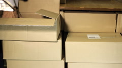 Package stack of books Stock Footage