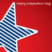 Happy 4th of July star card in vector format. - stock illustration