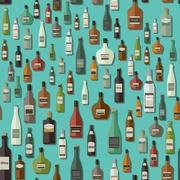 Alcoholic beverages seamless pattern Stock Illustration