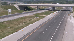 New Ontario highway 407 east through farmland in Whitby Stock Footage