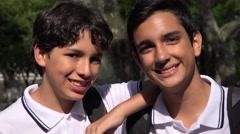 School Boys  Friends Stock Footage