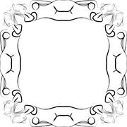 Abstract frame for text decoration made in the form of a sketch Stock Illustration